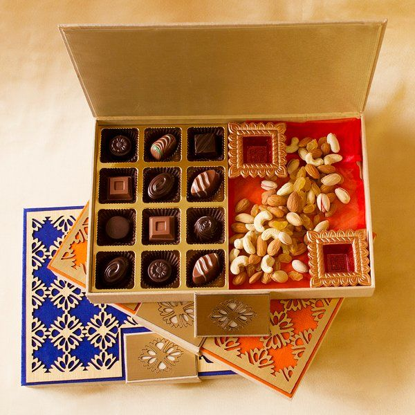 Classic Truffles & Dry Fruits Corporate Diwali  Gift Designer Box