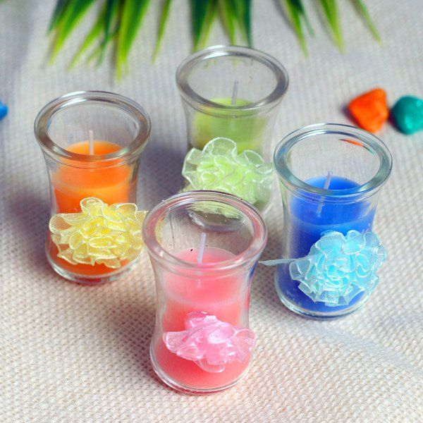FlowerAura Colorful Flower Candles Gifts Under 500