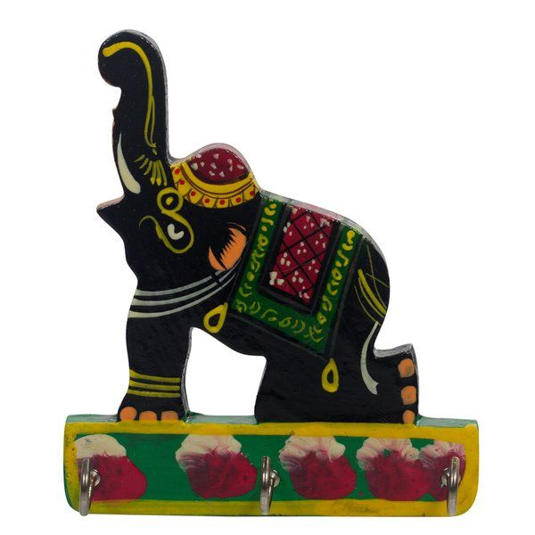 Colorful Key Holder in Elephant Shape Gifts Below 300 Rupees