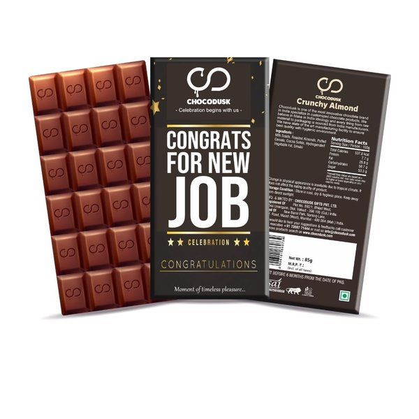 Chocodusk Congrats For New Job Chocolate Bar  gifts Under 200