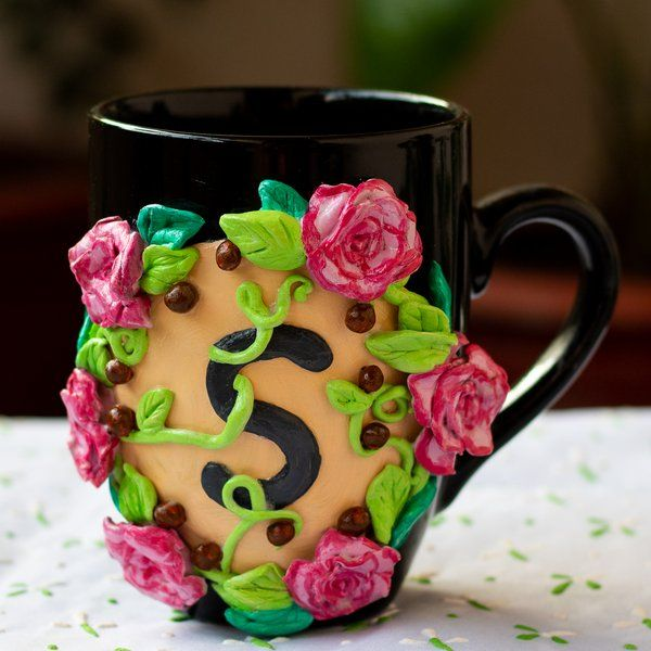 Hitchki Creative Corner Decorative Floral Coffee Mug Simple Gifts For Husband