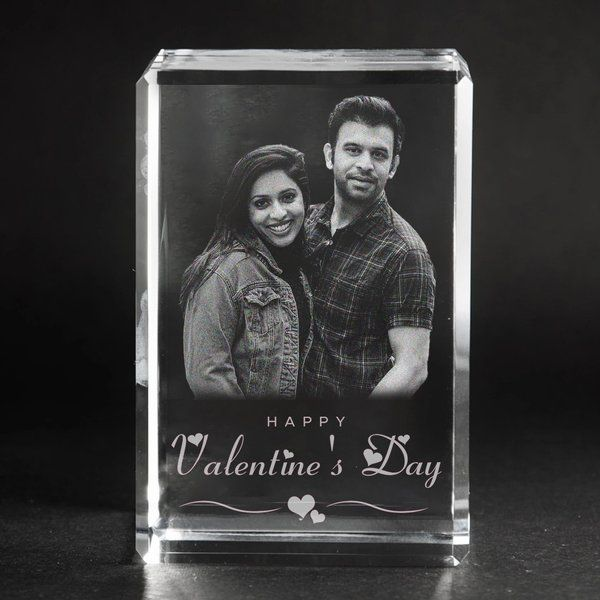 Privy Express Custom 3D Photo Personalised Rectangular Valentine's Day Crystal  Creative Valentines Day Gifts For Boyfriend