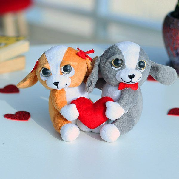 FlowerAura Cute Couple Puppies Toy Happy Propose Day Gift