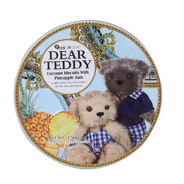 Sapphire Dear Teddy Coconut Biscuits With Pineapple Jam 150g Gift For Girlfriend Under 200