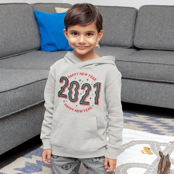 Privy Express Designer Happy New Year 2021 Unisex Hoodie Gifts for 12 Year Old Boys