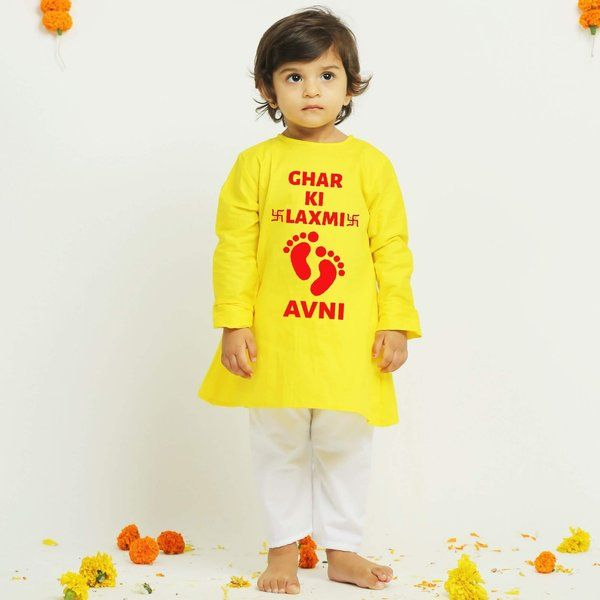 Knitroot Diwali Kurta for Baby Girl  Birthday Gift For  Baby Girl