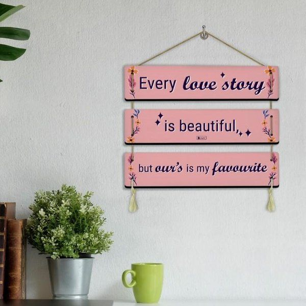 Indigifts Every Love Story Is Beautiful Printed Pink Valentine Gifts For Husband  First Gift For Boyfriend