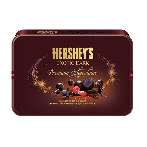Hershey's Exotic Dark Gift Tin Pack 192g Small Gifts For Friends