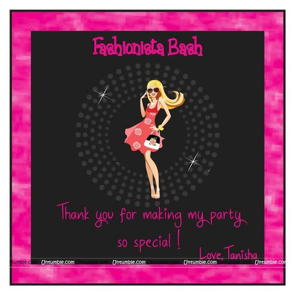 Untumble Fashionista Thank You Cards Small Gifts For Kids