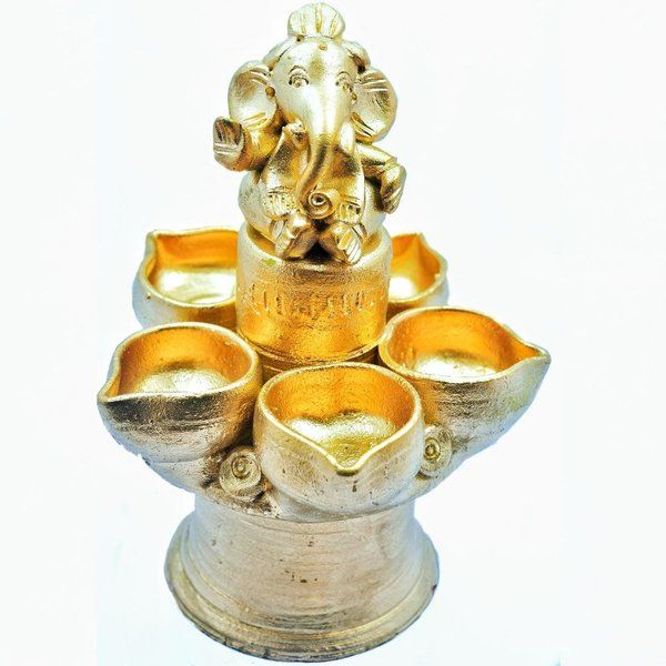 Hoods & Bonds Five Diya With Ganesha Diwali Gifts For Wife