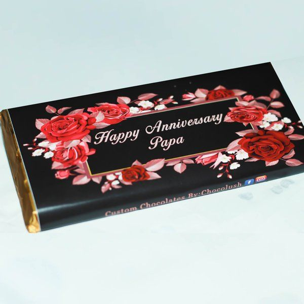 Privy Express Floral Custom Message Chocolate Bar  gifts Under 200