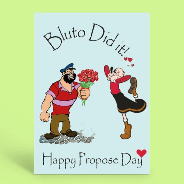 Privy Express Funny Bluto Did It Quirky Propose Day Greeting Card Funny Gifts For Boyfriend