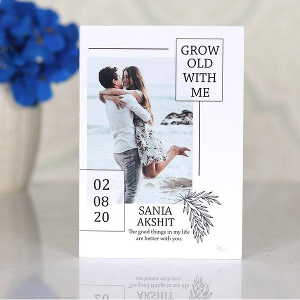 FlowerAura Grow Old With Me Anniversary Card Inexpensive Gifts For Boyfriend