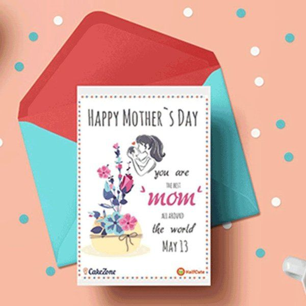 CakeZone HalfCute's Mother's day Personalized Greeting Card Mothers Day Greeting Cards