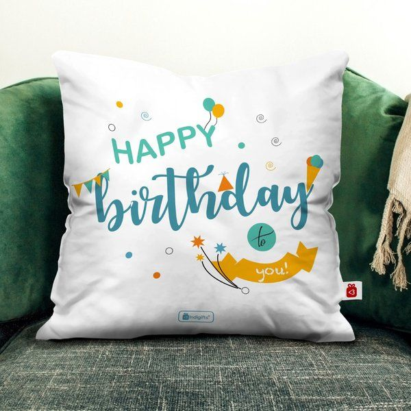 Indigifts Happy Birthday Cushion Gift Ideas For Girls