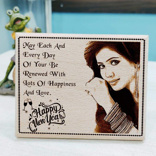 Incredible Gifts Happy New Year Personalized Photo Plaque Gift for Wife Personalized Gifts For Womens Day