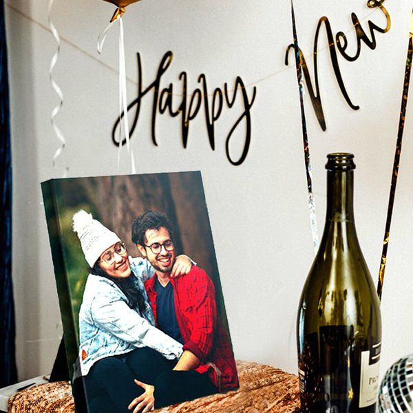 Photojaanic Happy New Year Table Photo Frame Gifts For Boyfriend Under 200