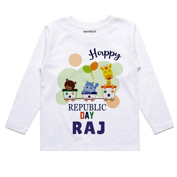 Knitroot Happy Republic Day Animal Edition Baby Wear T-Shirts 13 Year Old Gifts For Boys