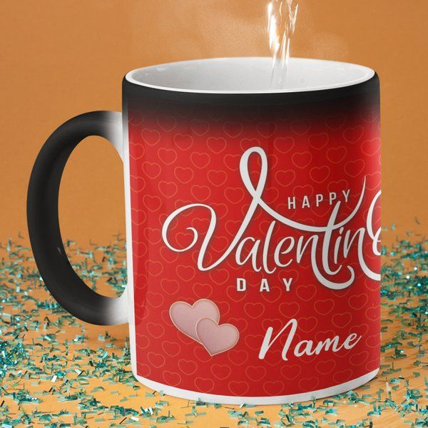 Privy Express Happy Valentine's Day Name & Photo Personalised Magic Coffee Mug Personalized Valentines Gifts For Him