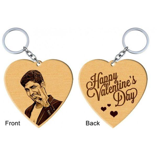 Incredible Gifts Heart Shaped Photo Keyring Personalized Valentines Gifts For Him