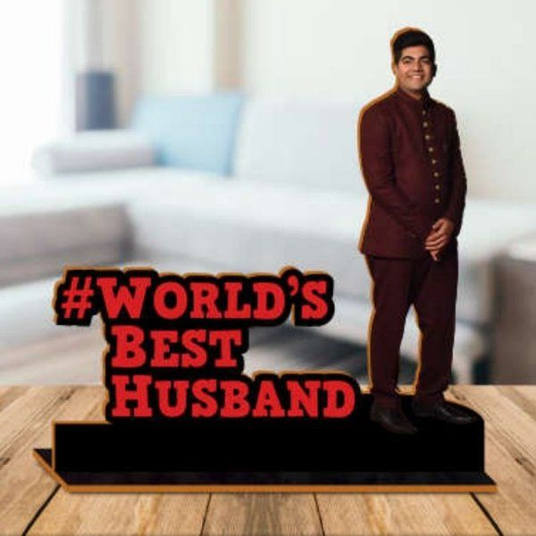 Waah Craft Husband Wooden Photo Standby With Message 1st Anniversary Gift For Husband