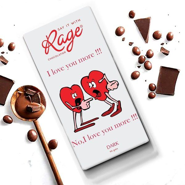 Rage Chocolatier I Love You More  Valentines Day Gifts For Couples