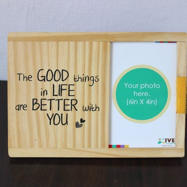 Ivei IVEI Wooden Table and Wall Photo Frame - Good Things Unique Birthday Gifts For Boyfriend