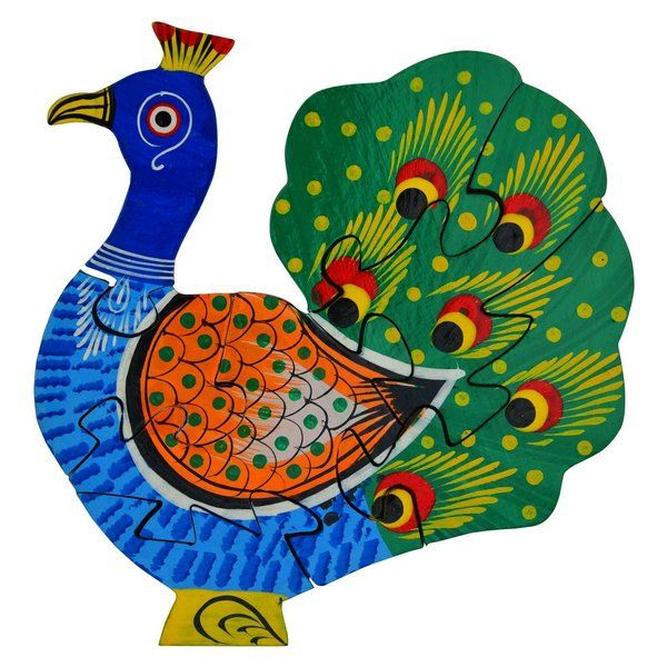 FineCraftIndia Jigsaw Puzzles Peacock Shaped Gifts For 9 Year Old Girls