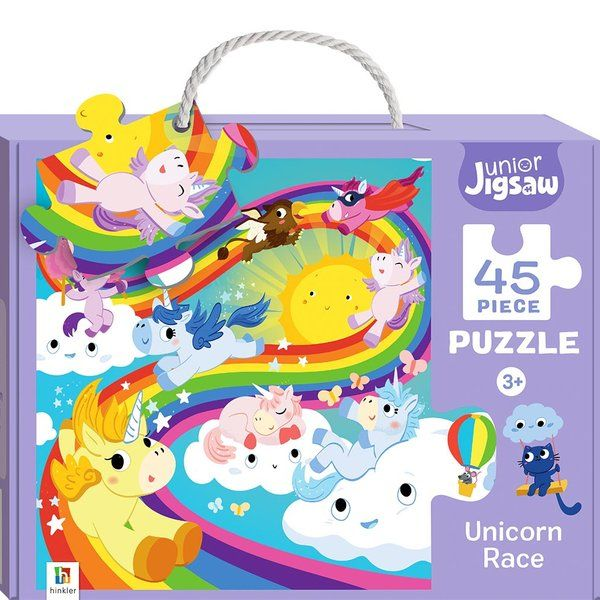 BookyWooky Junior Jigsaw 45 piece Puzzle Unicorn Race Unicorn Gifts For Kids