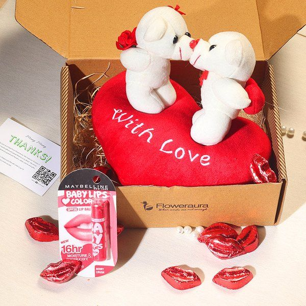 FlowerAura Kiss Ready Chocolate Combo Kiss Day Gift For Boyfriend