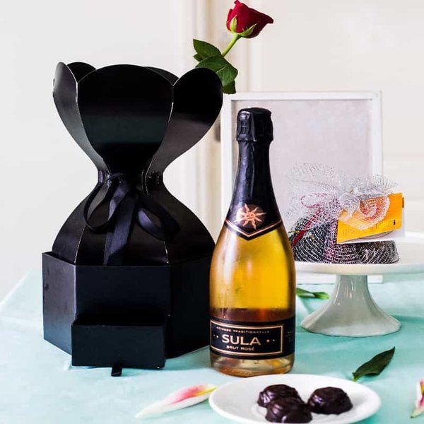 Dottedi Little Black Box Hamper 2nd Anniversary Gifts For Husband