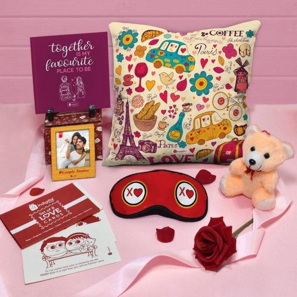 Indigifts Love Combo Set Valentine Special Gift For Husband  Creative Valentines Day Gifts For Boyfriend