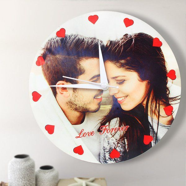 FlowerAura Love Forever Wall Clock Personalized Valentines Gifts