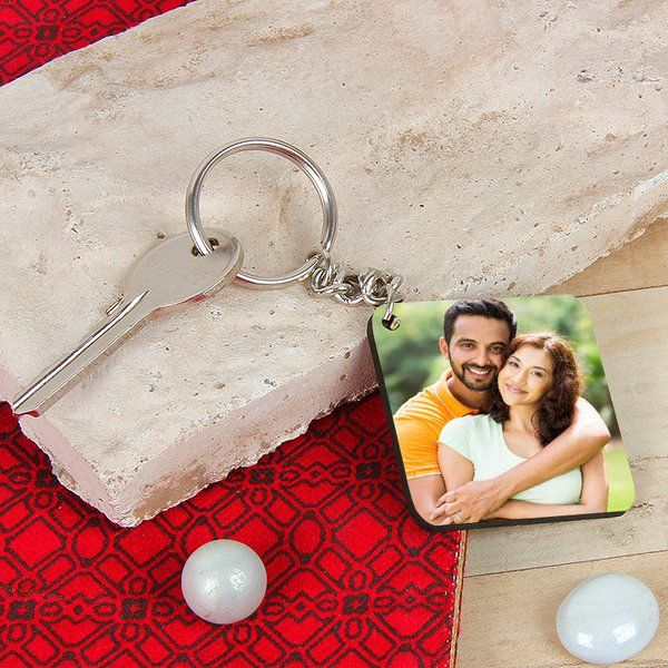FlowerAura Love Photo Keyring Gifts For Boyfriend Under 300
