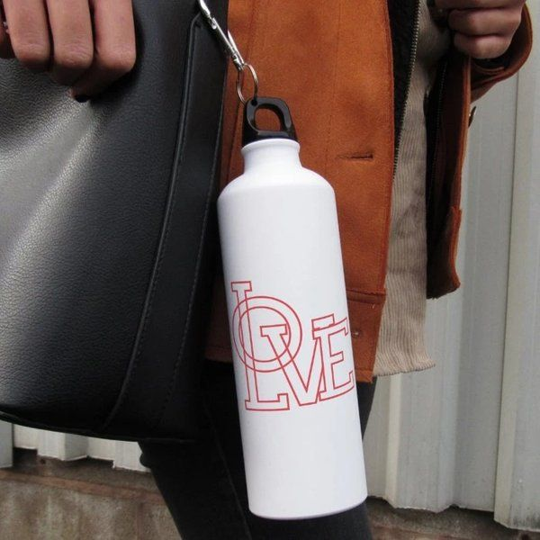 Indigifts Love Printed Water Bottle For Valentine  Meaningful Gifts For Boyfriend
