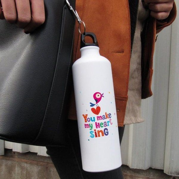 Indigifts Love Quote Printed Water Sipper Bottle For Valentine Return Gifts For Womens Day