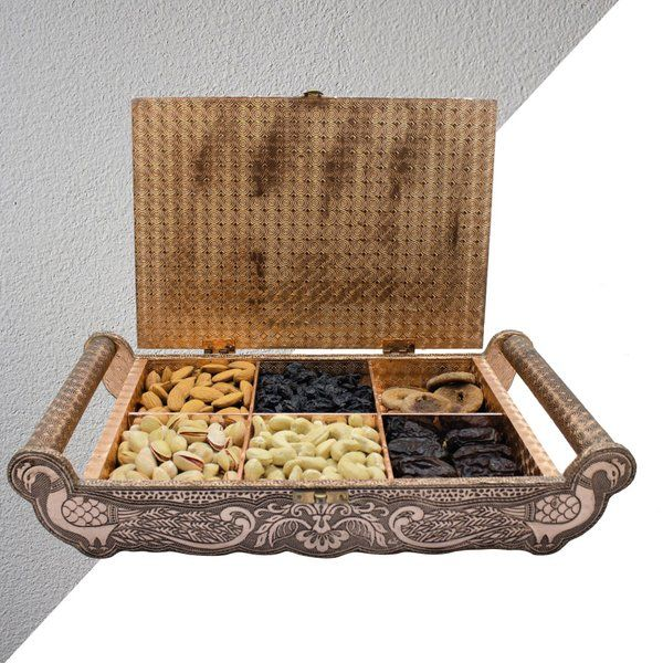 Apricot Luxury Dry Fruits Handcrafted Suitcase Gift Box Teenager Gifts For Boys