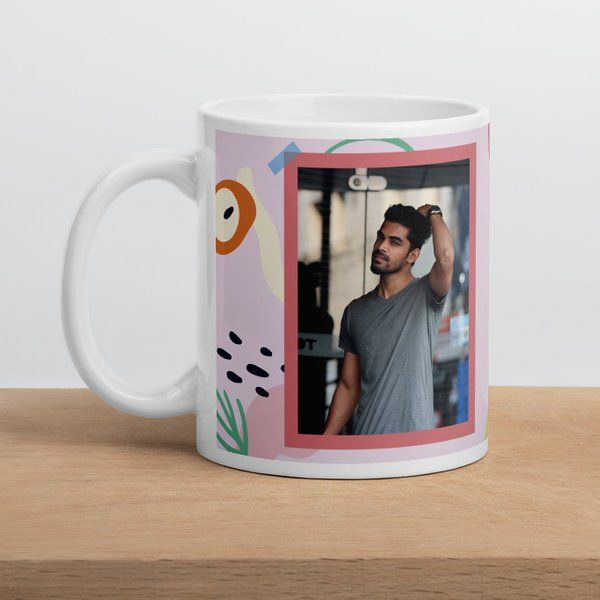 Privy Express Men's Photo and Name Personalized Happy Birthday Coffee Mug Coffee Mugs For Husband