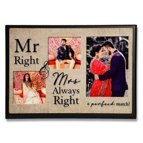 Zoci Voci Mr Right & Mrs Always Right Frame Gifts For Husband On Wedding Night