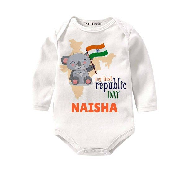 Knitroot My First Republic Day Little Panda Edition Onesie Panda Gifts For Girls