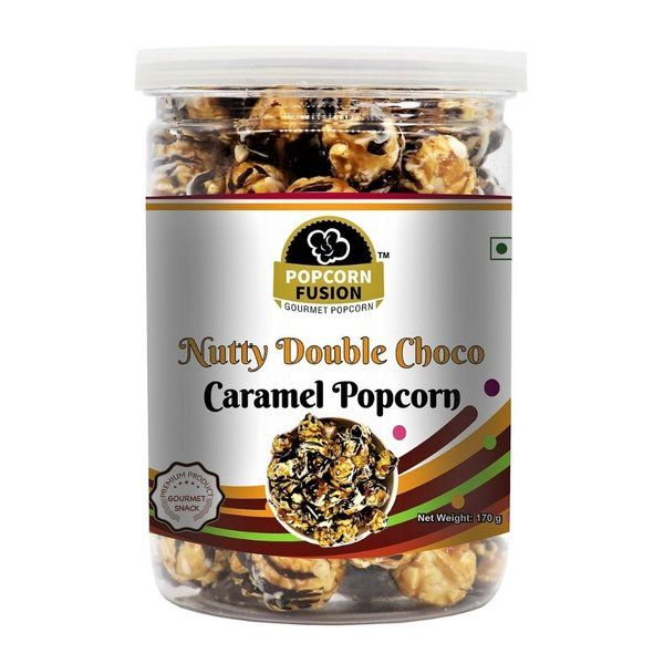 Popcorn Fusion Nutty Double Chocolate Caramel Popcorn Birthday Gift For Brother Under 200