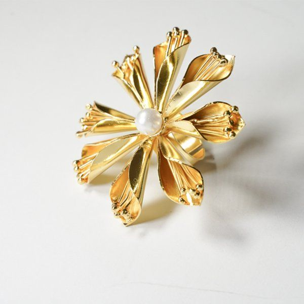 Ethnic Andaz Oversized Flower Ring Best Anniversary Gifts For Girlfriend