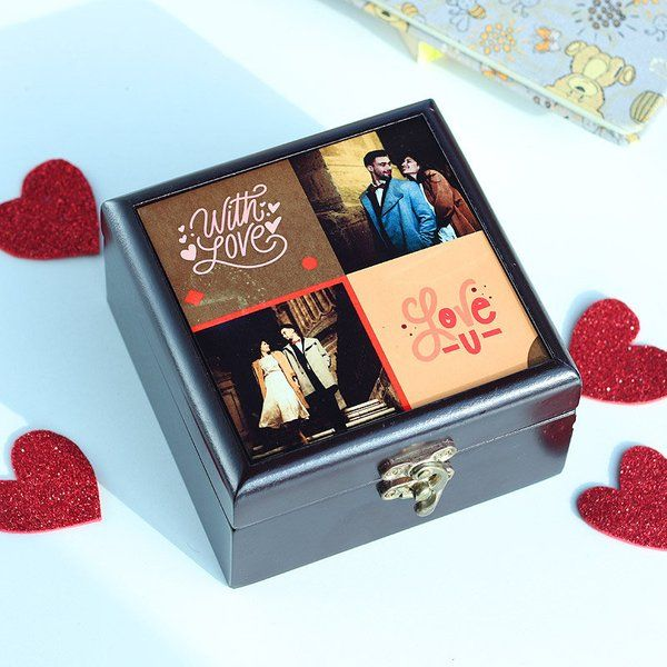 FlowerAura Personalised Choco Box Gift Ideas For Girls