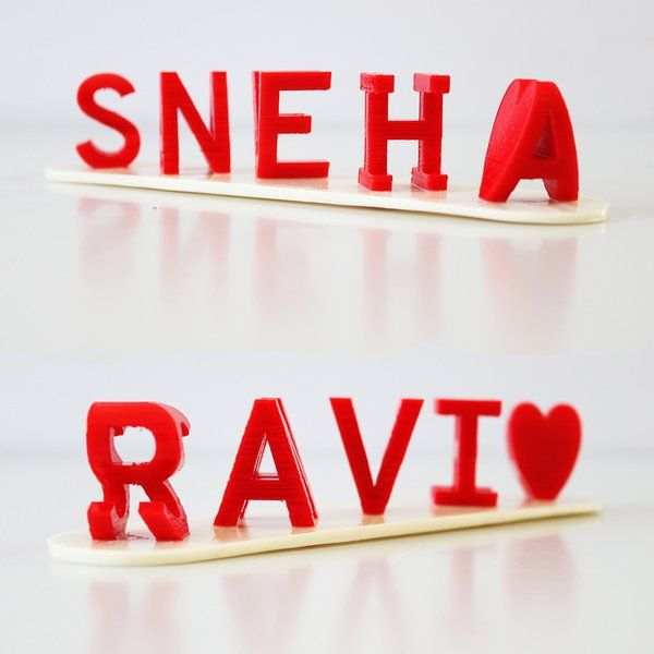 Soch3D Personalised Flip Name 3D Hidden Word Illusion Desk Name Plate Special Birthday Gifts For Husband