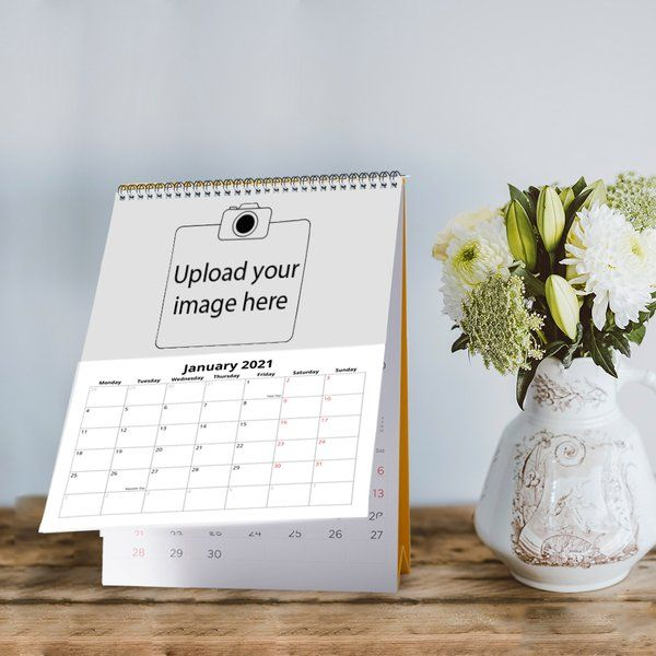 Privy Express Personalised Photo Desk Portrait Calendar - Create Your Own Cheap Gifts For Boys