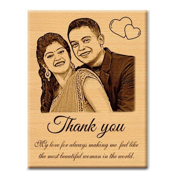 Incredible Gifts Personalized Plaque Thankyou Gift for Wife Cute Valentines Day Gifts For Him