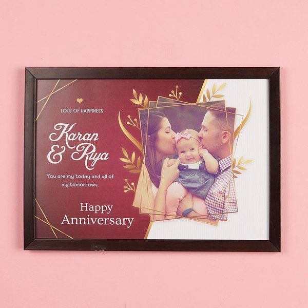 FlowerAura Photo Anniversary Frame Anniversary Gifts For Boyfriend Of 2 Years