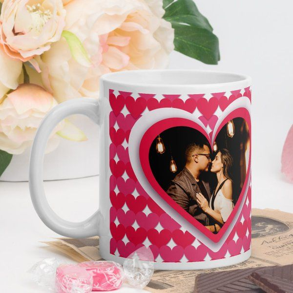 Privy Express Photo Personalised Happy Valentine's Day Coffee Mug Special Birthday Gifts For Husband