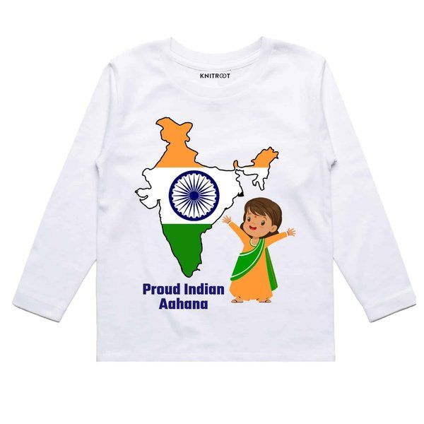 Knitroot Proud Indian Girl Baby Wear T-Shirts Gifts For 9 Year Old Girls
