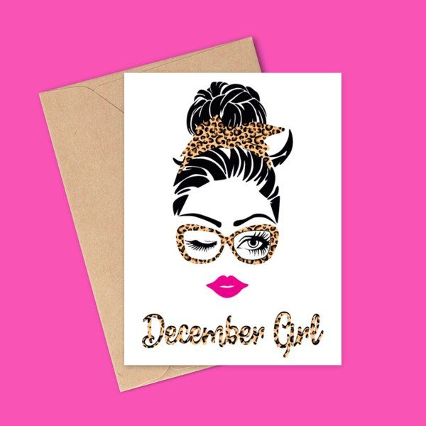 Privy Express Quirky December Girl Birthday Greeting Card Gifts For 17 Year Old Girls